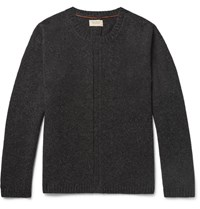 Nudie Jeans Tommy Wool Blend Sweater Charcoal