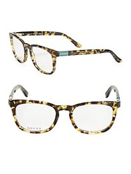 Gucci Havana 50Mm Tortoiseshell Optical Glasses Beige Havana