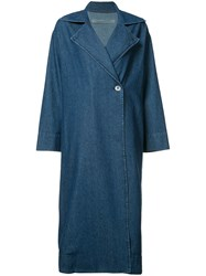 Raquel Allegra Denim Trench Coat Blue