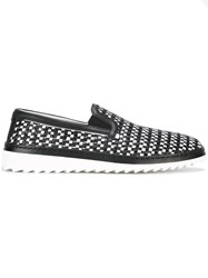 Dolce And Gabbana Woven Loafers Black