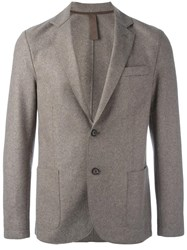 Eleventy One Button Blazer Nude Neutrals