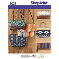 Simplicity Clutch Wristlet And Purse Sewing Pattern 8028