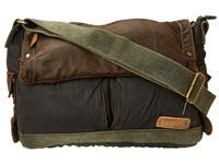 Bed Stu Hawkeye Messenger Bag Oil Slick Messenger Bags Brown