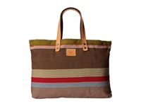 Will Leather Goods Reversible Weaver's House Brown Tote Handbags