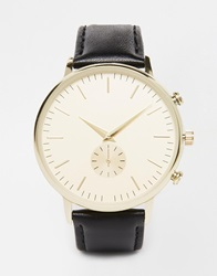 New Look Classic Oversized Watch Black