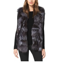 Michael Kors Fox Fur Vest Silver