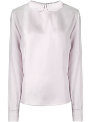 Blumarine Peter Pan Collar Blouse Nude And Neutrals
