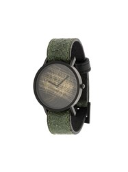 South Lane Avant Verge Watch Calf Leather Stainless Steel Green