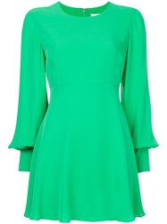 Ck Calvin Klein Georgette Dress Green