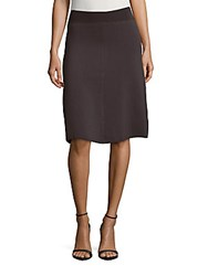 Saks Fifth Avenue Red Textured Solid Skirt