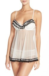 Black Bow Women's 'Ruffles Galore' Underwire Chemise And Hipster Briefs