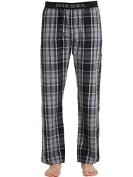 Diesel Plaid Cotton Pajama Pants