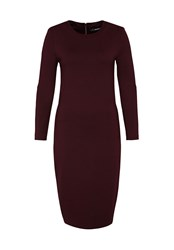 Hallhuber Jersey Shift Dress Wine