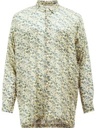 08Sircus Floral Print Shirt Yellow Orange