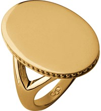Links Of London Narrative Oval 18Ct Gold Vermeil Ring