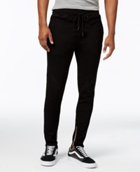 Jaywalker Men's Tapered Ankle Zip Pants Black