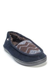 Muk Luks Henry Faux Fur Slipper Blue