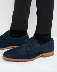 Call It Spring Edaussi Suede Derby Shoes Navy