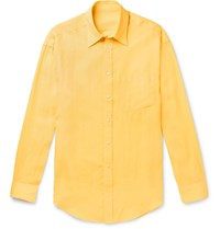 Anderson And Sheppard Linen Shirt Yellow