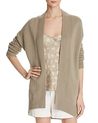 Vince Cashmere Open Front Cardigan Stucco