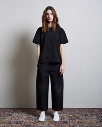 Alexander Wang Cropped Low Waisted Distressed Pant Ottoman