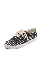 Bucketfeet Dots Low Top Sneakers Black White