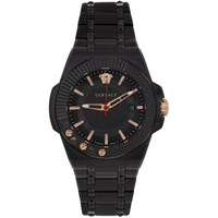 Versace Black Chain Reaction Watch