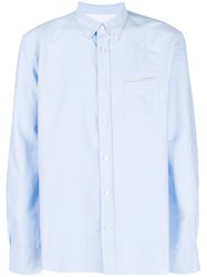 Officine Generale Classic Button Down Shirt Blue