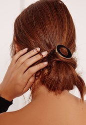 Missguided Two Pack Circle Hair Ties Tortoise Shell Brown