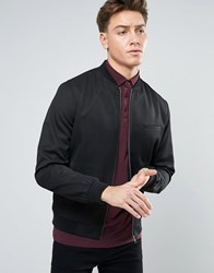 New Look Smart Bomber Jacket In Black Black