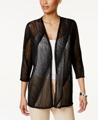 Jm Collection Petite Open Front Cardigan Only At Macy's Deep Black