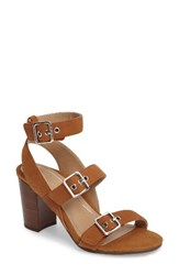 Vionic Women's Carmel Block Heel Sandal Saddle Leather