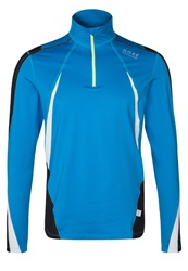 Gore Running Wear Air Thermo Long Sleeved Top Splash Black White Blue