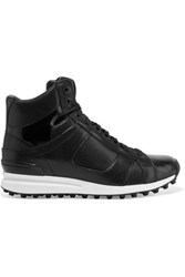 3.1 Phillip Lim Trance Leather High Top Sneakers Black