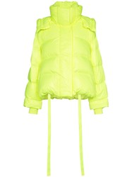 Juun.J Short Padded Feather Down Puffer Jacket Yellow