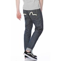 0a5986d9a437 Evisu Carrot Fit Hand Painted Seagull Selvedge Denim Jeans