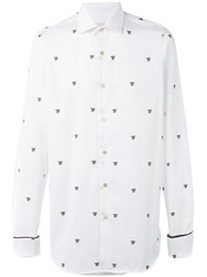 Paul Smith Bee Embroidered Shirt White