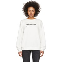 R 13 R13 White Sell Your Soul Sweatshirt