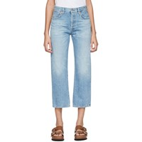 Citizens Of Humanity Blue Emery High Rise Relaxed Crop Jeans