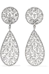Buccellati Ramage 18 Karat White Gold Diamond Earrings