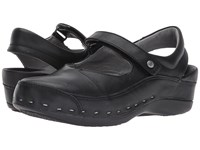 Wolky Strap Cloggy Black Mighty Leather Women's Clog Shoes