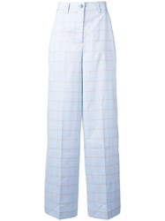 Essentiel Antwerp Tailored Palazzo Trousers Blue
