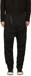 D.Gnak By Kang.D Black Zip Sarouel Trousers