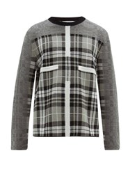 Craig Green Birdseye Tartan Wool Sweater Grey