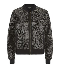 Juicy Couture Leaf Sequin Bomber Jacket Female
