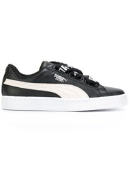 Puma Basket Heart De Sneakers Cotton Leather Suede Rubber Black