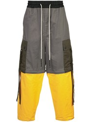 Mostly Heard Rarely Seen Colour Block Trousers Cotton Grey