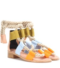 Pierre Hardy Azur Suede Sandals Multicoloured