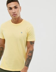 Abercrombie And Fitch Icon Logo Crewneck T Shirt In Yellow