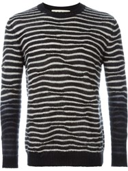 Marni Zebra Print Sweater Black